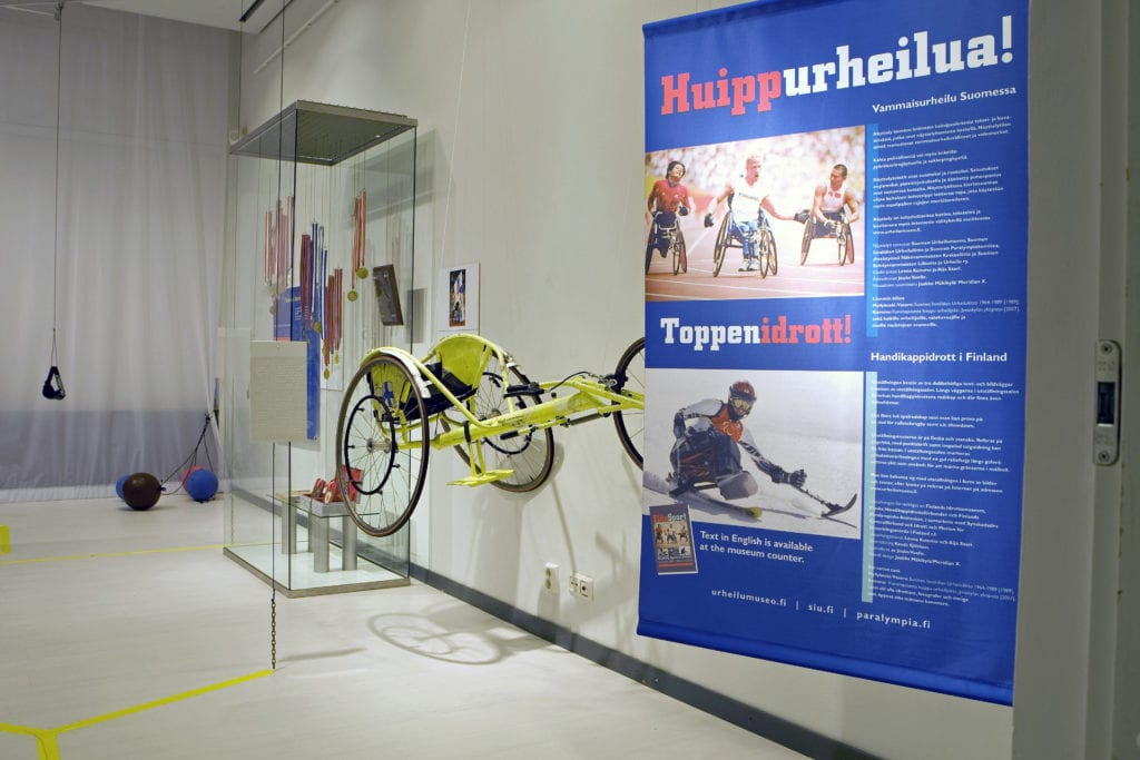 Urheilumuseon näyttely HUIPPurheilua – vammaisurheilu Suomessa 2009