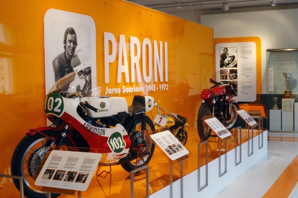Urheilumuseon näyttely 2010 Paroni – Jarno Saarinen 1945‒1973