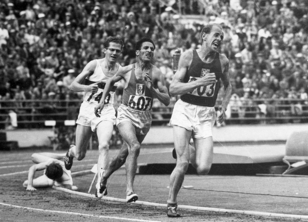 Emil Zátopek Helsingin olympialaisissa