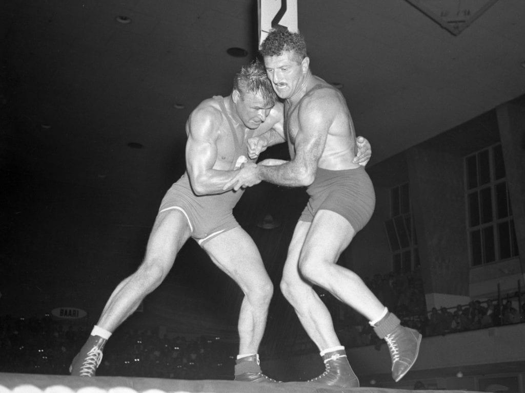 Kelpo Gröndahl ja Salva Tsihladze Helsingin olympialaisissa