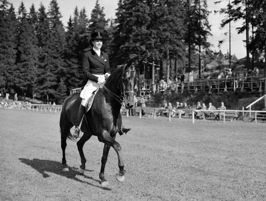 Tanskan Lis Hartel hevosella Jubilee