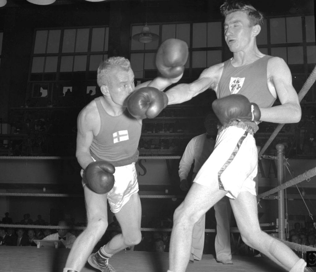 Pentti Hämäläinen ja John McNally Helsingin olympialaisissa