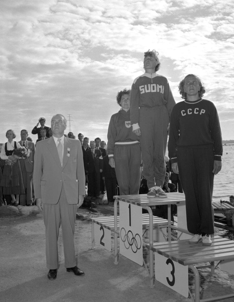 Sylvi Saimo Helsingin olympialaisissa 1952