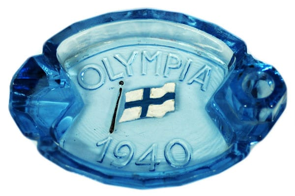 Helsinki Olympic Games 1940 Ash tray The Sports Museum of Finland
