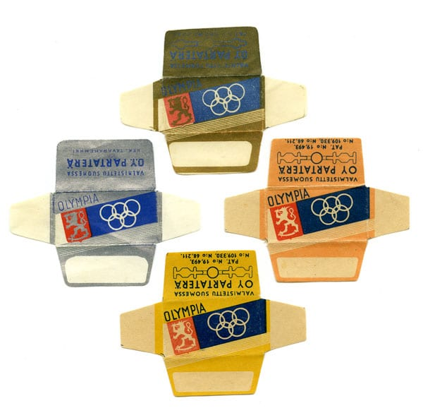 Helsinki Olympic Games 1940 Razor Blade package The Sports Museum of Finland