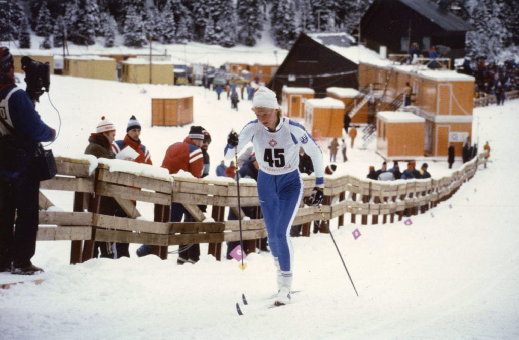 Suomen urheilun Hall of Fame Marja-Liisa Kirvesniemi Urheilumuseo © Helge Heinonen