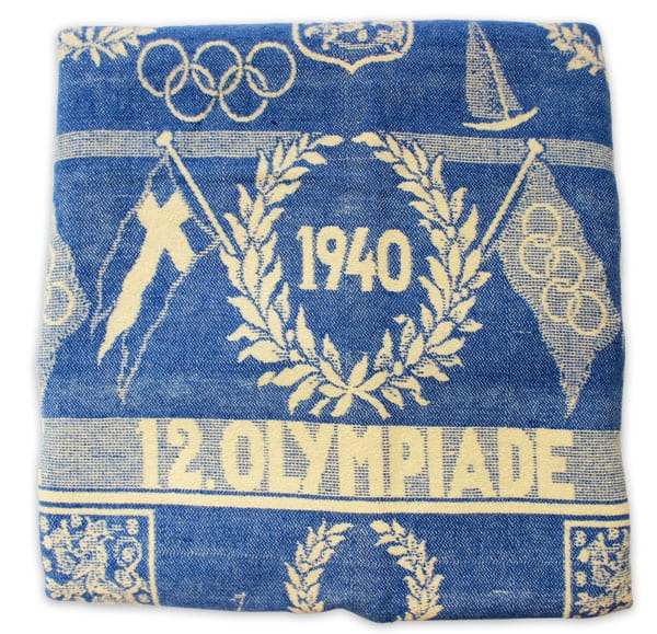 Helsinki Olympic Games 1940 Olympic blanket The Sports Museum of Finland