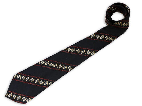 Helsinki Olympic Games 1940 Olympic necktie The Sports Museum of Finland