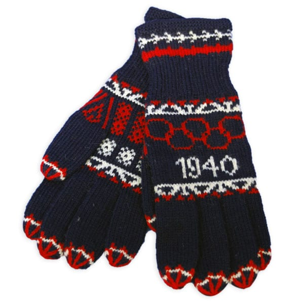 Helsinki Olympic Games 1940 Woollen gloves The Sports Museum of Finland