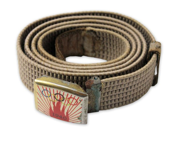 Helsinki Olympic Games 1940 Knitted belt The Sports Museum of Finland