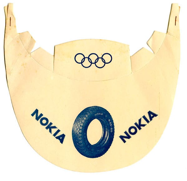 Helsinki Olympic Games 1952 Sun visor The Sports Museum of Finland