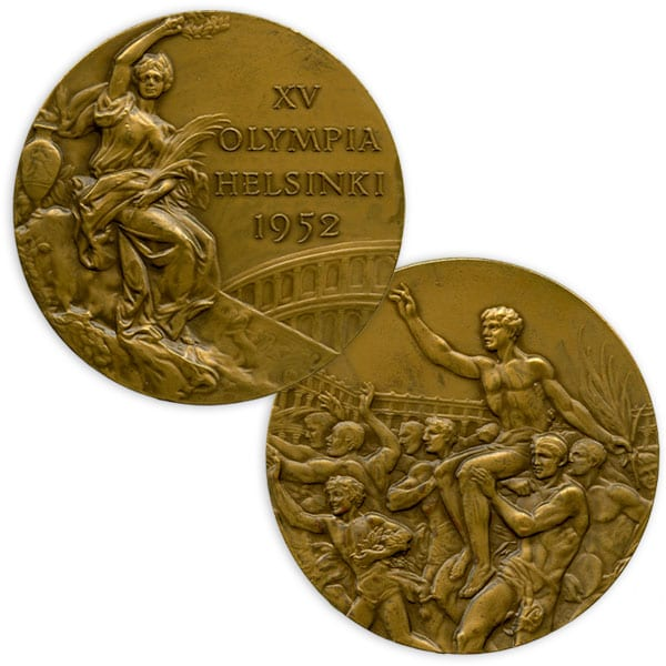 Helsinki Olympic Games 1952 Olympic bronze medal The Sports Museum of Finland