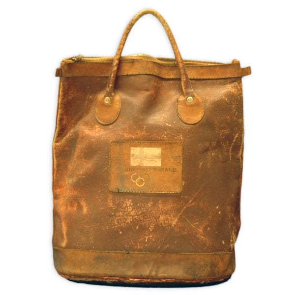 Helsinki Olympic Games 1952 Leather bag The Sports Museum of Finland