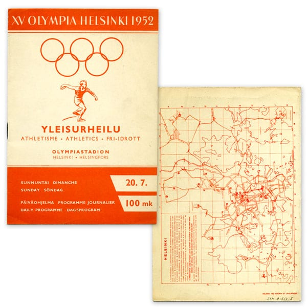 Helsinki Olympic Games 1952 Olympic programme (athletics) The Sports Museum of Finland