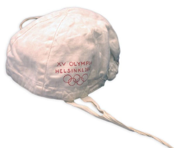 Helsinki Olympic Games 1952 Water polo cap The Sports Museum of Finland