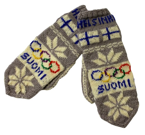 Helsinki Olympic Games 1952 Wool mittens The Sports Museum of Finland