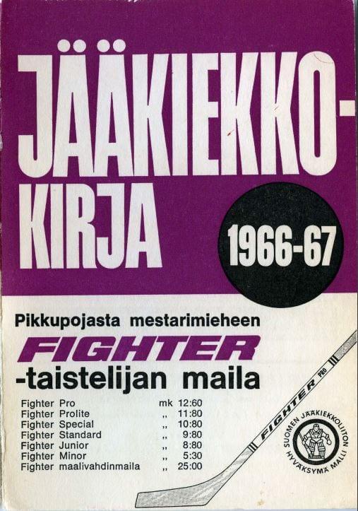 Jääkiekkokirja 1966-67 kansi. Urheilumuseo.