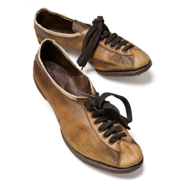 Stockholm-1912_Hannes Kolehmainen's spiked shoe