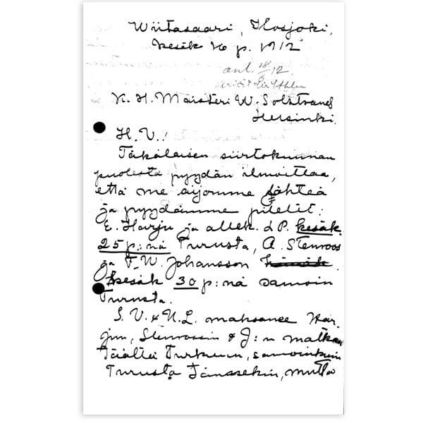 Stockholm-1912_Letter from Lauri Tahko Pihkala
